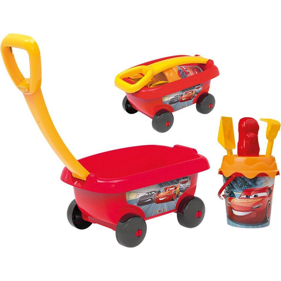 Smoby Cars Handwagen mit Eimergarnitur, 6-tlg.
