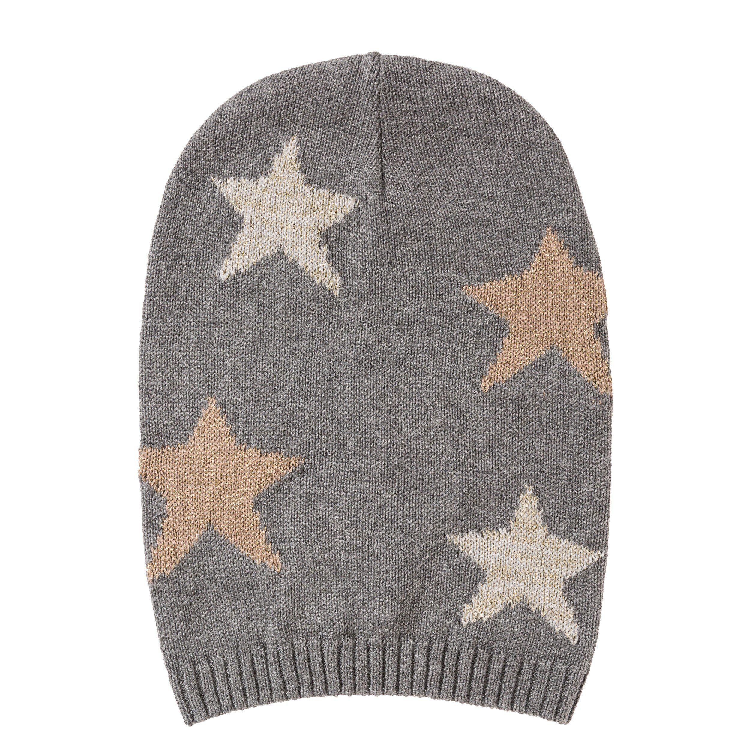 Codello Kaschmir-Mütze mit Sternchen-Muster