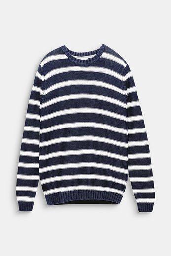 ESPRIT Grobstrick-Sweater mit maritimen Streifen