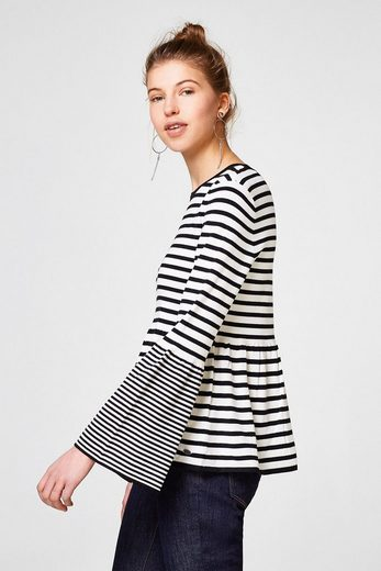 EDC BY ESPRIT Leichter Sweater mit Schößchen