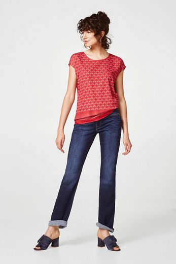 ESPRIT COLLECTION Blusen-Shirt mit zweierlei Prints