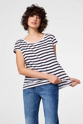 EDC BY ESPRIT Gestreiftes T-Shirt mit Stitchings