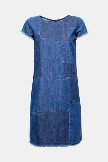 ESPRIT Trendiges Jeans-Kleid im Patchwork-Look