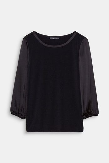 Esprit Collection Flowing Shirt With Balloon Sleeves