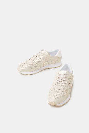 ESPRIT Metallic-Sneaker mit Loch-Muster