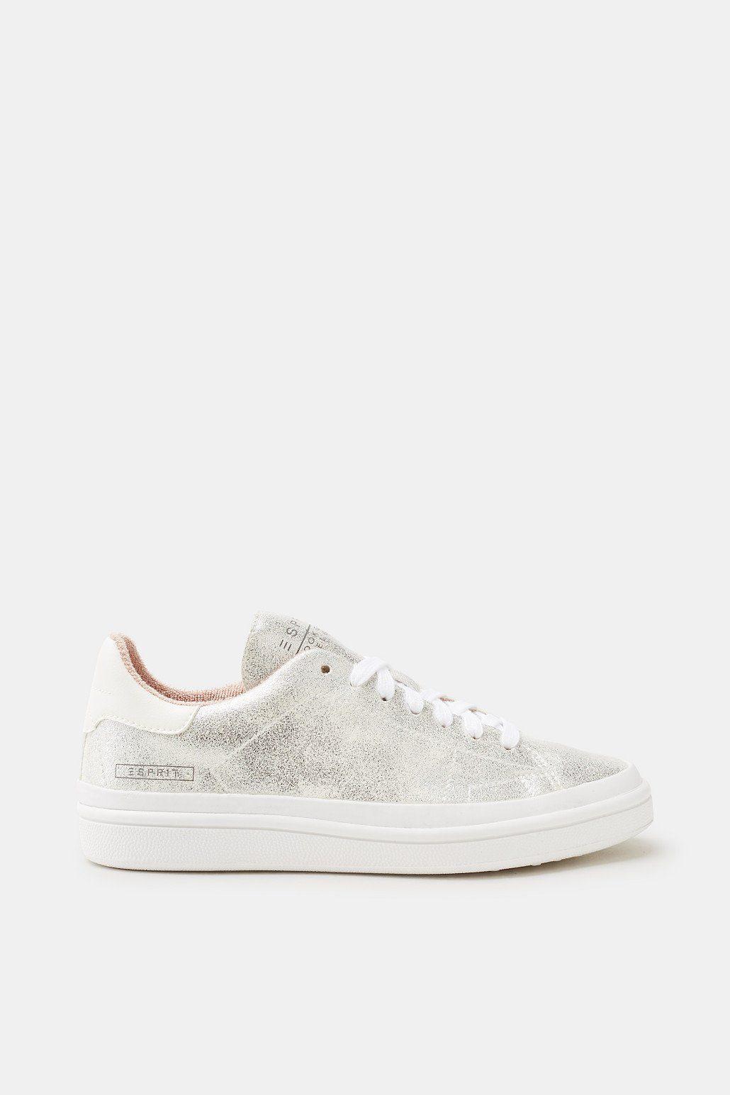 Esprit Trend-Sneaker im Metallic-Look für Damen, Größe 40, Silver