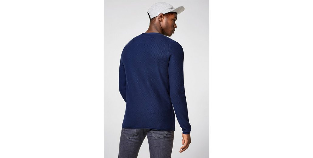 EDC BY ESPRIT Struktur-Sweater aus Baumwolle Neue Stile Günstiger Preis Auslass Echt kFZMYHoX1C