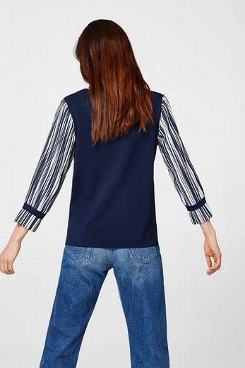 ESPRIT COLLECTION Feiner Pullover mit plissierten Ärmeln