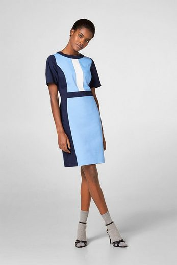 ESPRIT Stretch-Kleid im Colorblock-Look