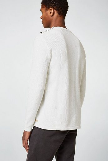 ESPRIT Strick-Sweater mit Knopf-Detail