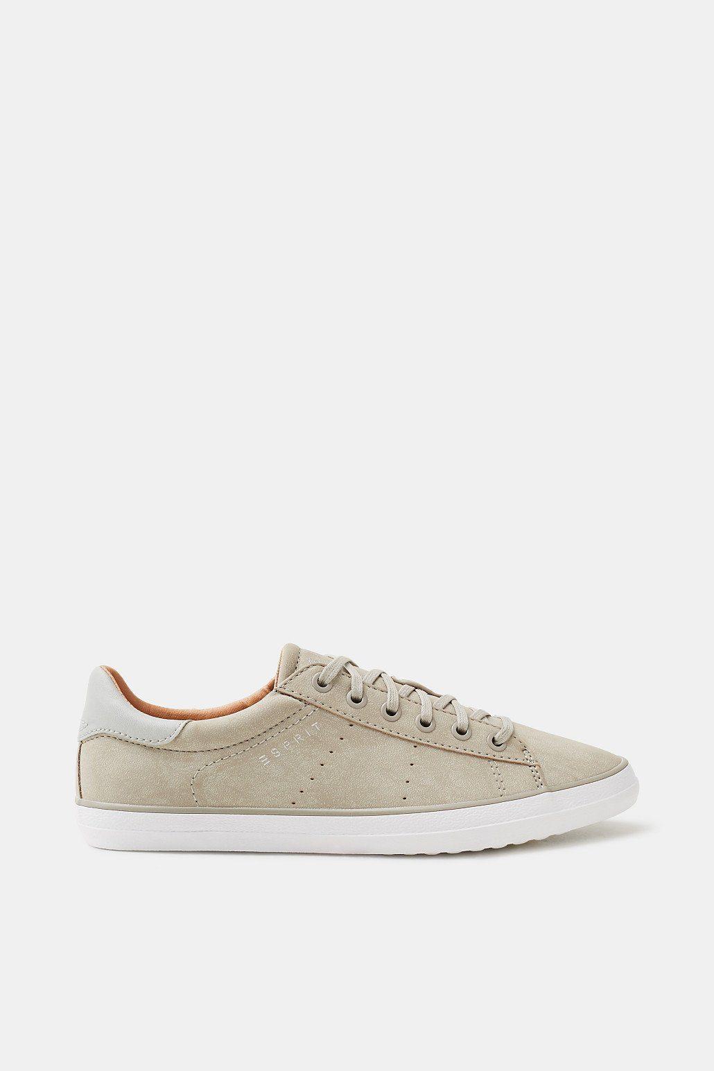 Esprit Maritimer Sneaker aus veganer Produktion für Damen, Größe 42, Light Grey