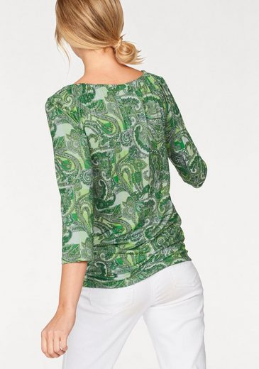 Cheer 3/4-Arm-Shirt, mit grafischem Allover-Print