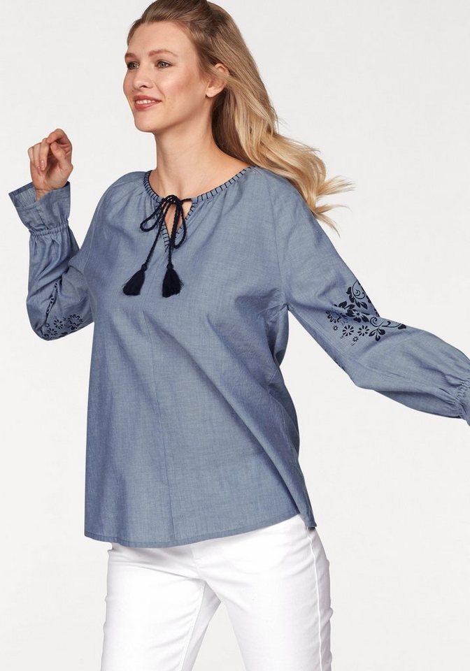 Cheer Tunika mit floralem Druck auf den Ärmeln | Bekleidung > Tuniken > Sonstige Tuniken | Blau | Cheer