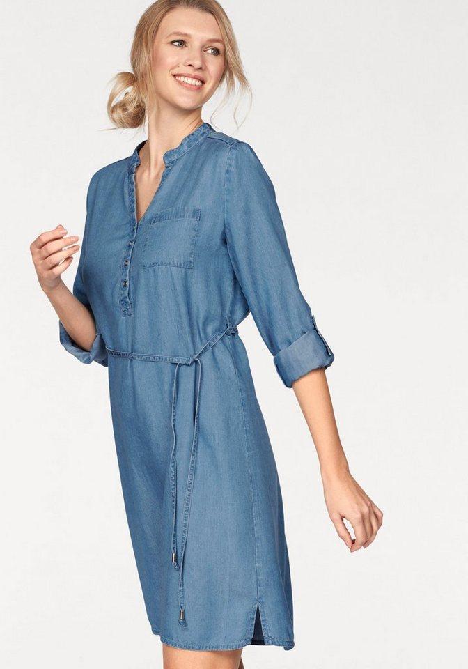 Cheer Jeanskleid mit Bindegürtel | Bekleidung > Kleider > Jeanskleider | Blau | Lyocell - Denim | Cheer