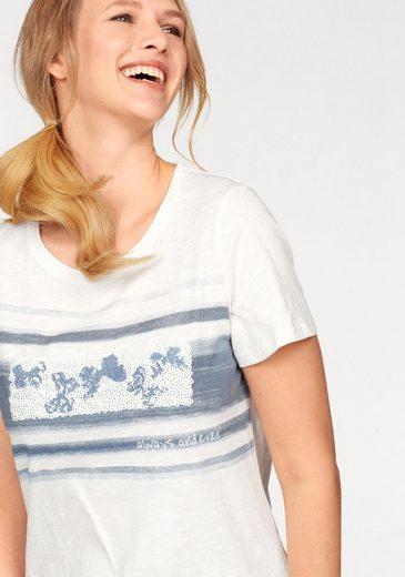 Cheer T-Shirt, mit Pailletten und Druck
