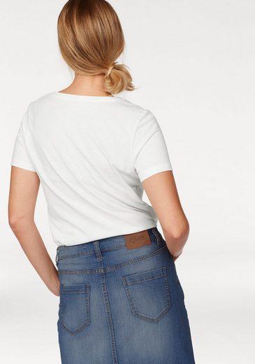 T-shirt De Joie, Avec Un Frontprint À La Mode