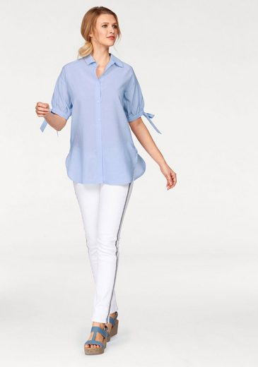 Cheer Shirt Blouse, With Button Tape In The Side Seam