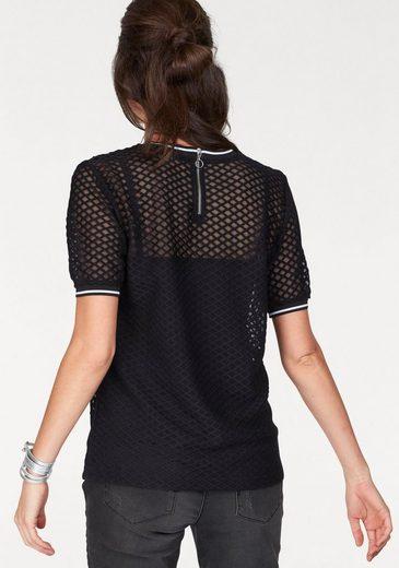 Aniston T-Shirt, mit Reißverschluss im Rücken