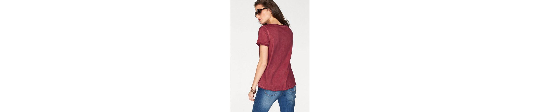 Aniston T-Shirt, mit trendiger Schnürung im Vorderteil