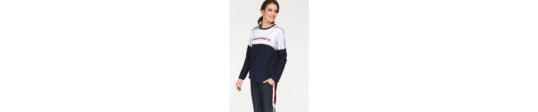 Aniston Sweatshirt, mit gl盲nzendem Schriftzug