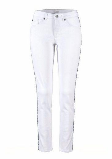 Der jeans Seitennaht Streifen Skinny Mit In fit Cheer einsatz 0nT8U8