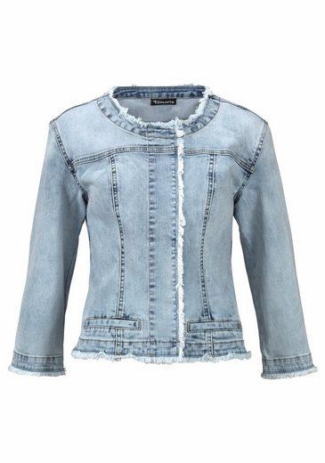 Tamaris Denim Jacket With Frayed Edges