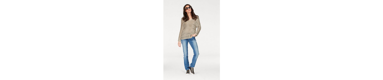 Aniston V-Ausschnitt-Pullover, aus Bändchengarn