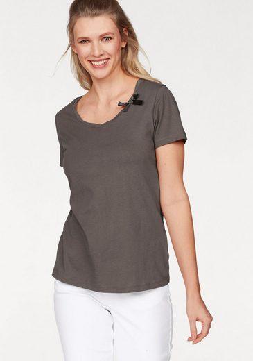 Cheer T-Shirt (Packung, 2 tlg., 2er-Pack), jeweils mit Zierschleife am Ausschnitt