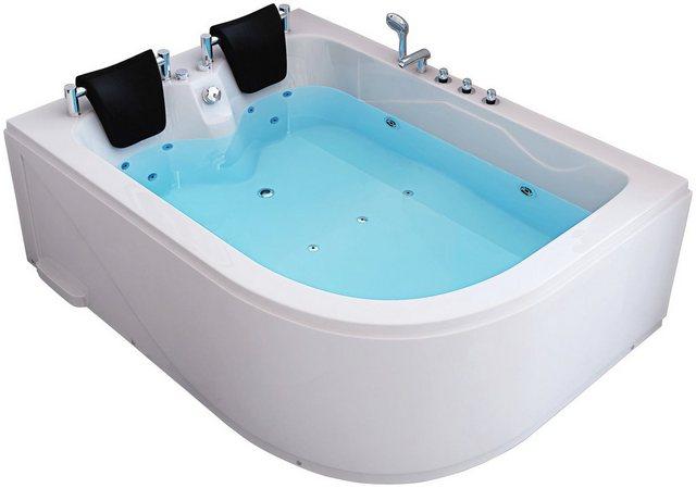 Badewannen und Whirlpools - HOME DELUXE Whirlpool Badewanne »Ancona XL«, (Komplett Set, 5 tlg), B T H in cm 180 120 65, rechts  - Onlineshop OTTO