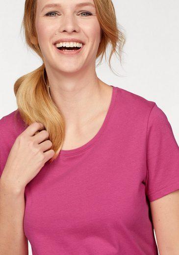 Cheer T-Shirt (Packung, 2 tlg., 2er-Pack), aus reiner Baumwolle