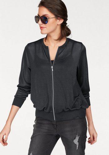 Damen Aniston by BAUR Shirtjacke transparent schwarz | 06950452576858