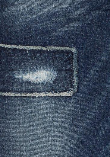 Jeansrock Geschnitten By Aniston Asymmetrisch Baur TIEvxxfq