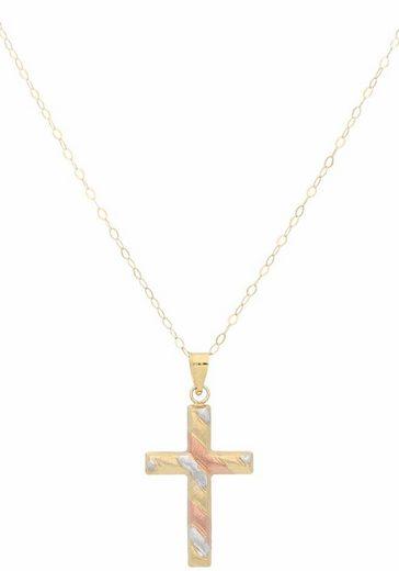 Firetti Kreuzkette »Kreuz, tricolor«