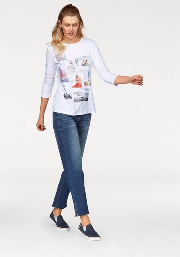 Cheer 3/4-arm-shirt, With Rhinestones