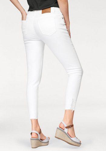 Damen Aniston by BAUR Skinny-fit-Jeans mit Destroyed-Effekt weiß | 04895157065240