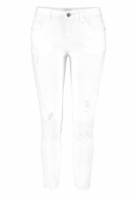 Hosen - Aniston CASUAL Skinny fit Jeans mit Destroyed Effekt › weiß  - Onlineshop OTTO