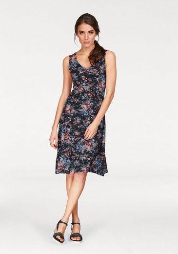 Tamaris Jerseykleid, mit Blumendruck