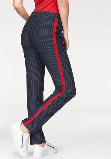 Pantalon Slip Aniston, En Design À Fines Rayures