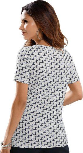 Alessa W. Shirt mit Schmetterlings-Dessin