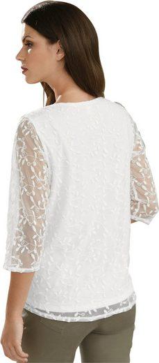 Fair Lady Blusenshirt komplett aus Blütenspitze