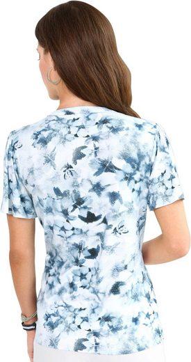 Fair Lady Shirt mit Blüten im Aquarell-Stil