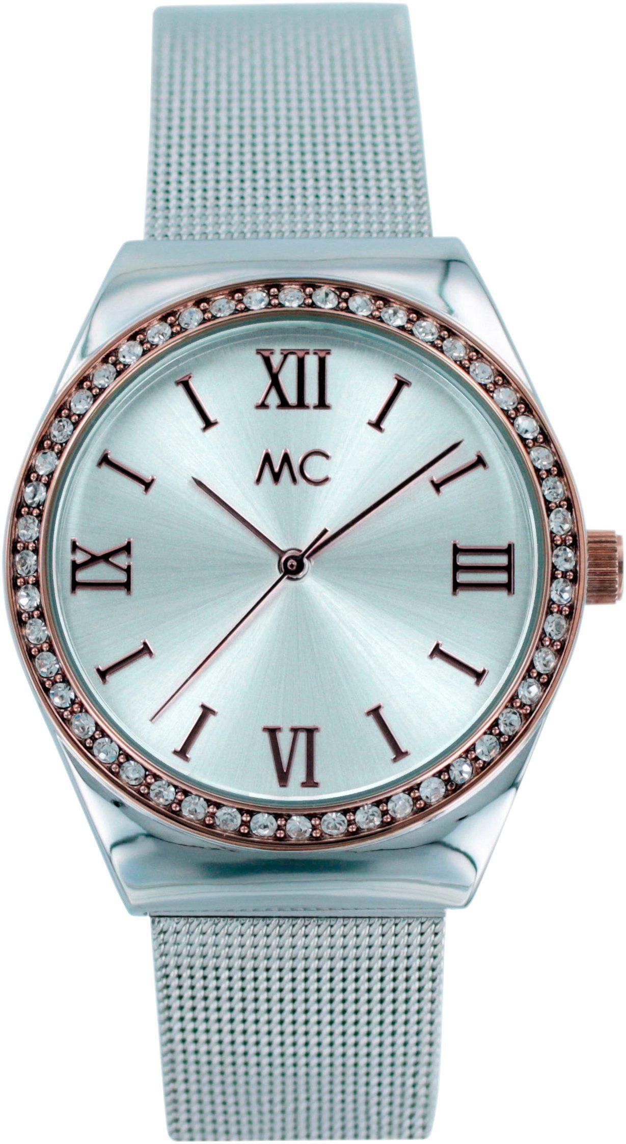 MC Damenuhr mit vielen funkelnden Kristallen