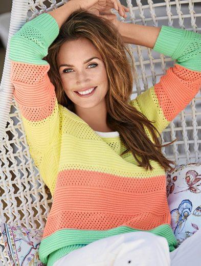 Classic Basics Pullover mit Rippbündchen an Ärmeln und Saum