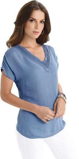 Fair Lady Shirtbluse aus feinem Crêpe-Blusenstoff