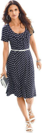 Alessa W. Jersey-Kleid im charmanten Schmetterlings-Dessin
