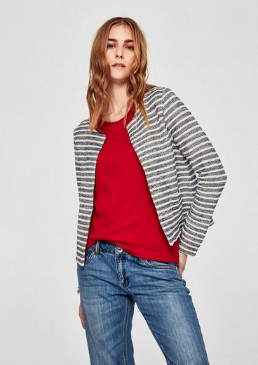 S.oliver Red Label Sweat Jacket In Striped Design