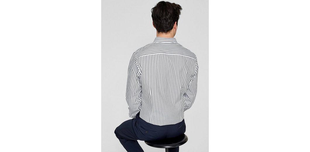s.Oliver BLACK LABEL Slim: Gestreiftes Baumwollhemd Outlet Brandneue Unisex Verkaufsqualität k5GBf