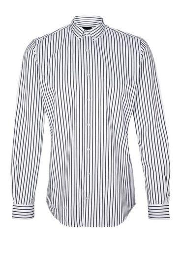 S.oliver Black Label Slim: Striped Cotton Shirt