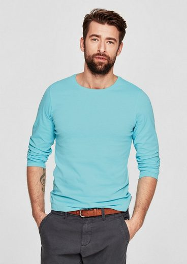 s.Oliver RED LABEL Basic-Langarmshirt aus Jersey