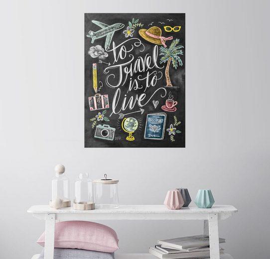 Posterlounge Wandbild - Lily & Val »Reisen Ist Leben«